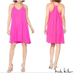 Nicole Miller New York Trapeze Dress Pink